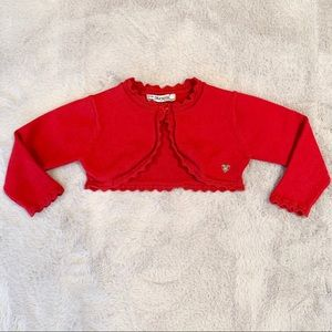 Mayoral Baby Girl Red Sweater Cardigan 9 Months